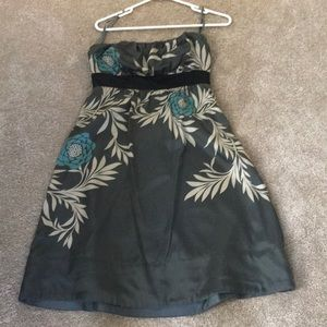 Silky flower dress- short, tube top